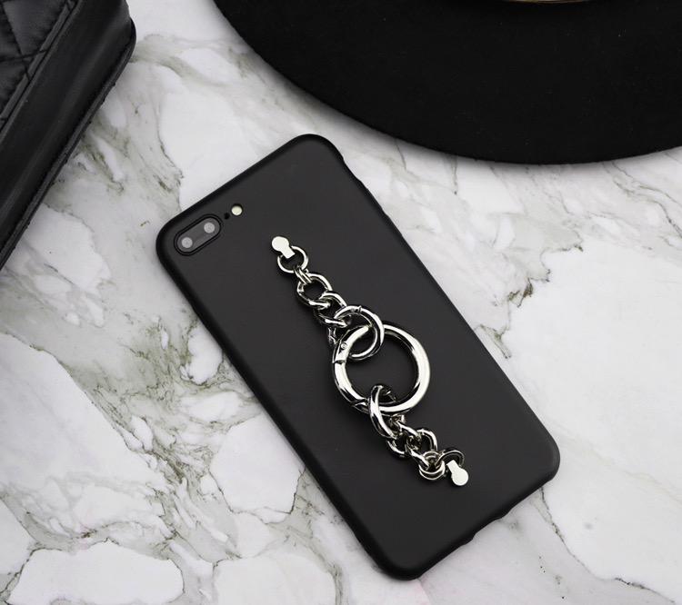 落下防止背面ベルト黒いiPhone 12 miniケース